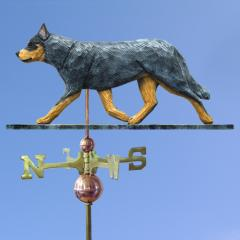Australian Cattle Dog Weathervane shown in Blue Merle