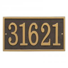 Rectangle Fast & Easy Number Sign - Bronze/Gold