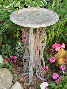 Dragonfly Birdbath with Pedestal