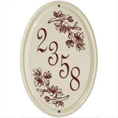 Dogwood Vertical Ceramic Number Sign