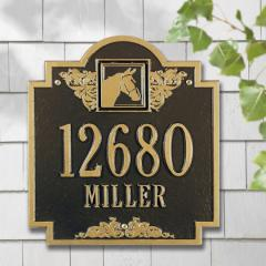 Horse Monogram Plaque