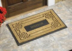 Personalized Coir Knot Rectangle Mat