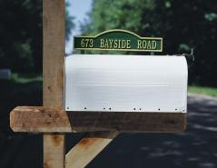 Arch Design Two-Sided Mailbox Plaque