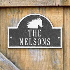 Horse Head Stall Plaque