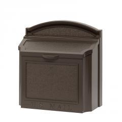Wall Mount Locking Mailbox - Bronze