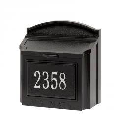 Personalized Locking Wall Mailbox