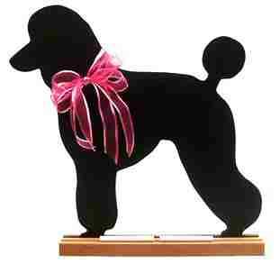 Poodle Dog Breed Chalkboard