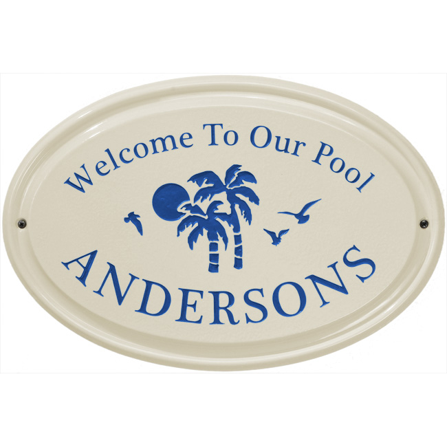 Coastal Ceramic Pool Plaques