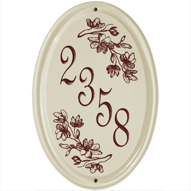 House Number Ceramic Wall Plaques