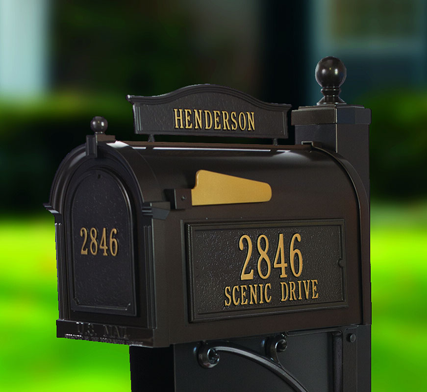 Residential Mailboxes in Roadside and Post Mount Styles.