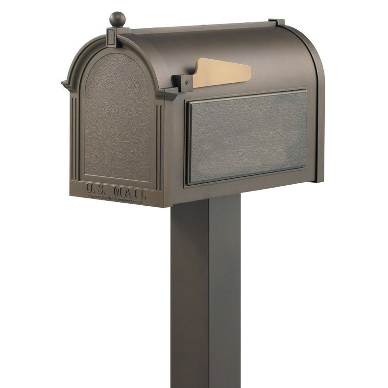 Mailbox Post shown with Whitehall Products Deluxe Mailbox Package