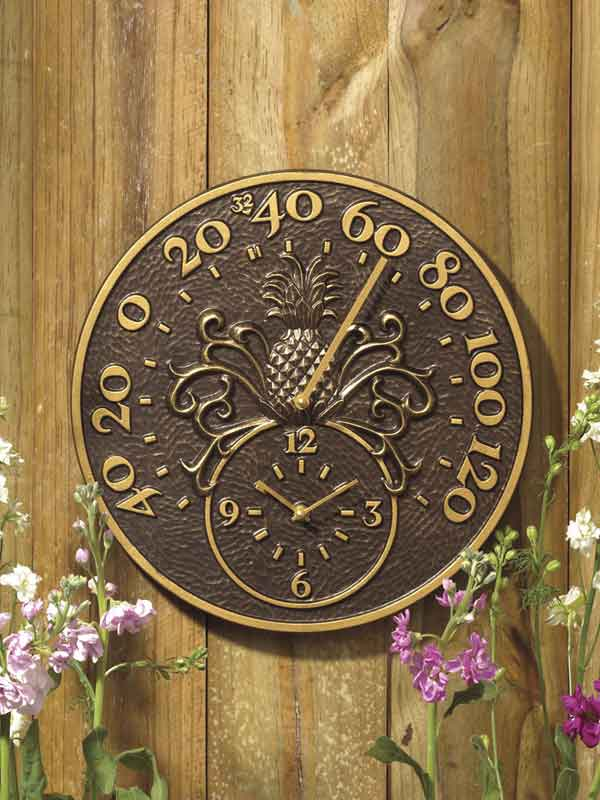 Home >> Thermometer Clocks >> Pineapple Thermometer Clock